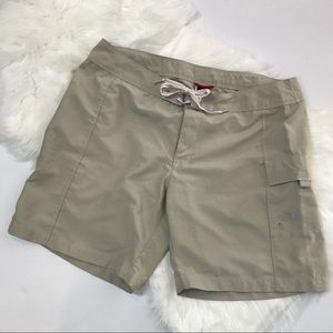 The North Face tan size 14  cargo hiking shorts
